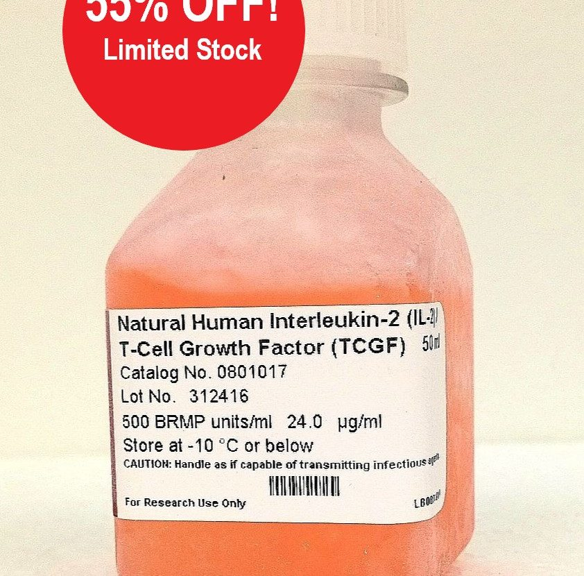 TCGF (Natural T-Cell Growth Factor, IL-2) PROMOTION, -55% OFF!